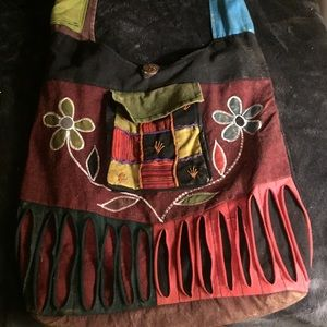 Colorful hippie tote